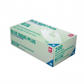 Handske - Blue Basic Plus Nitril Puderfri