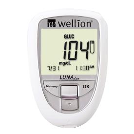 Blodsockermätare som även kan mäta kolesterol. Vit