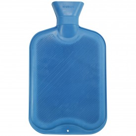 Blå varmvattenflaska
