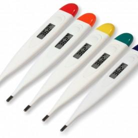 Digital febertermometer i olika färger Rumptermometer Muntermometer Rektal