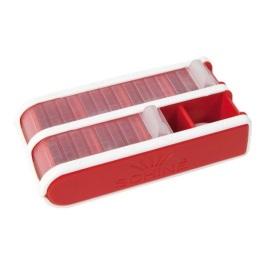 Pill Box Schine, Liten, röd