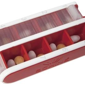 Schine liten pill box, röd