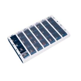 Schine Pill Box Stor Blå