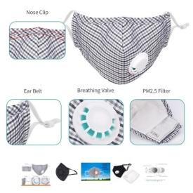 Andningsmask i textil, flergångs, FFP3 Breathing mask, textile, multiuse, FFP3