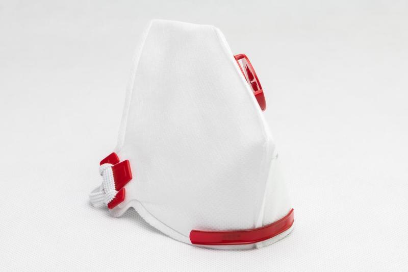 Andningsmask FFP3 med röd ventil