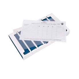 Bild på plastficka och ordinationskort till Schines stora Pill Box